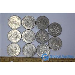 (11) Canadian Dollar Coins