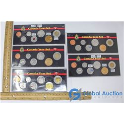(5) Canadian Coin Sets