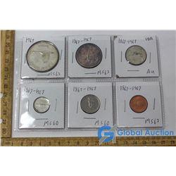 (6) 1867-1967 Coins