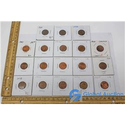 (18) Canadian One Cent Pieces