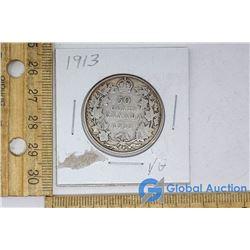 1913 Silver Dollar Canadian Coin