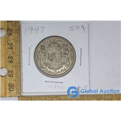 1947 Silver Dollar Canadian Coin