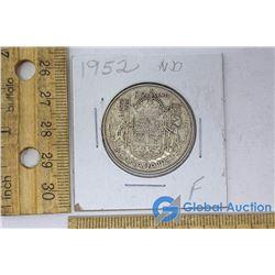 1952 Silver Dollar Canadian Coin