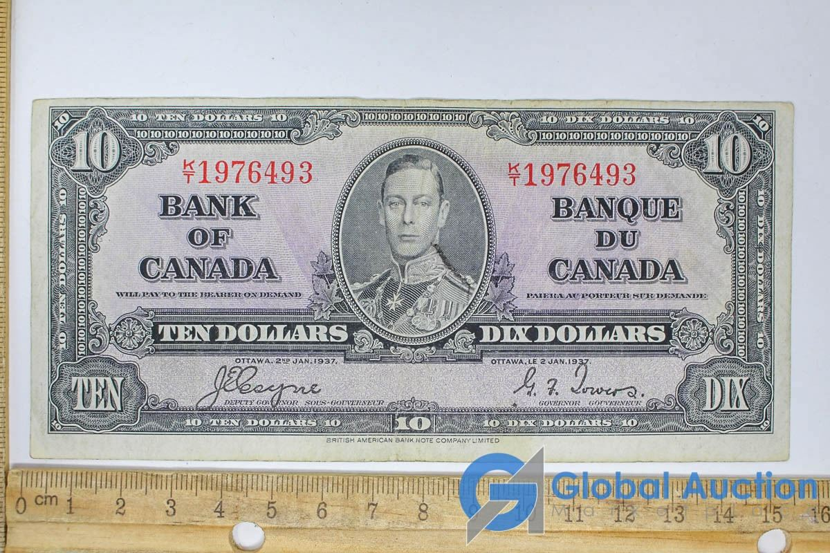 1937 Canadian 10 Dollar Bill