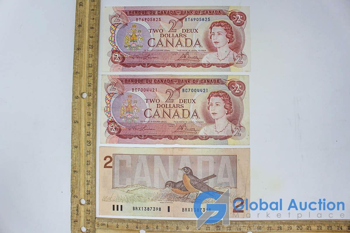 1974 Canadian Two Dollar Bills (Uncirculated)