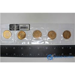 SK Roughriders Centennial $1 Circulation 5 - Pack 2010