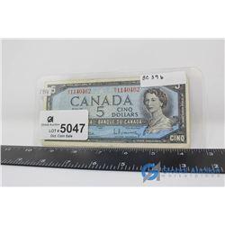 1954 $5 Canadian Bill