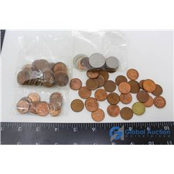Large Variety of European Coins