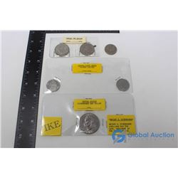 (2) Canadian $1 Coins; (3) Canadian 50 Cent Coins & (1) United States $1 Coin