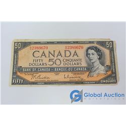 1954 Canadian 50 Dollar Bill