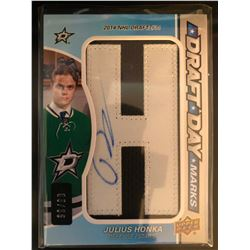 2015-16 SP Game Used Draft Day Marks Julius Honka