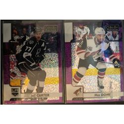 2017-18 O-Pee-Chee Violet Pixels Jeff Carter #24, And