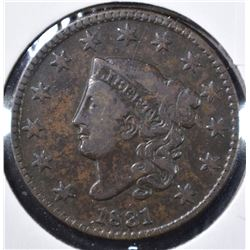1831 LARGE CENT, VF