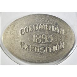 1891/1893 V NICKEL COLUMBIAN EXPO ROLL-OUT BU