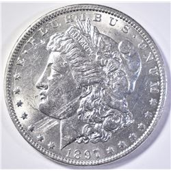 1897-O MORGAN DOLLAR  BU  MARKS OBV.