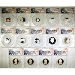 2014-S 14-COIN SILVER PROOF SET ANACS PR-70 DECAM
