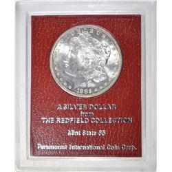 "1882-S MORGAN DOLLAR ""REDFIELD"" GEM BU"