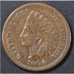 1864 L INDIAN CENT   VF
