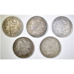 5-CIRC MORGAN DOLLARS