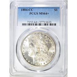 1884-CC MORGAN DOLLAR  PCGS MS-64+