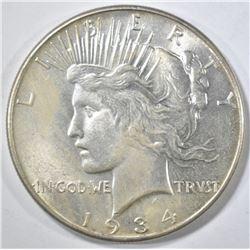 1934 PEACE DOLLAR  BU