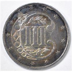1862 3 CENT SILVER  GEM BU