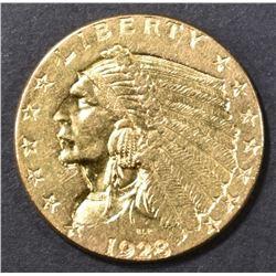1928 GOLD 2.5 INDIAN BU