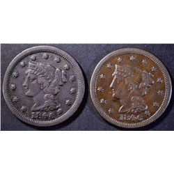 2-1846 LARGE CENTS, VF+