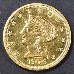 1904 $2.5 GOLD LIBERTY CH BU