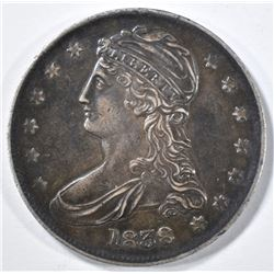 1838 REEDED EDGE BUST HALF AU/BU