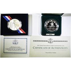COMMEM COIN LOT:  1997 BOTANICAL PROOF SILVER