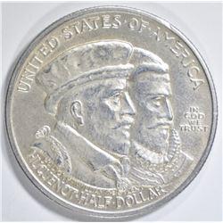 1924 HUGUENOT COMMEM HALF  AU/BU