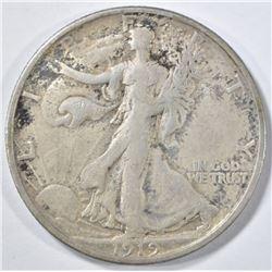 1919-S WALKING LIBERTY HALF DOLLAR  VF/XF