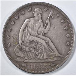 1855-S SEATED LIBERTY HALF DOLLAR  XF
