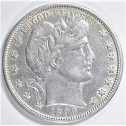 1899-O BARBER HALF DOLLAR  AU