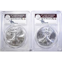 (2) 2017-W ASE PCGS MS-70 MERCANTI SIGNED