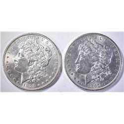 1897 & 1898 MORGAN DOLLAR   BU