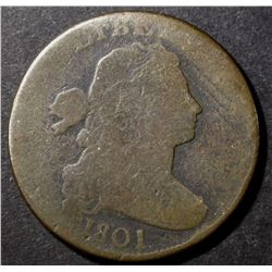 1801 DRAPED BUST LARGE CENT, GOOD+