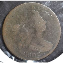 1802 DRAPED BUST LARGE CENT AG/G