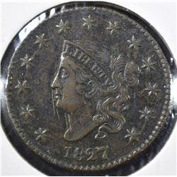 1827 MATRON HEAD LARGE CENT AU