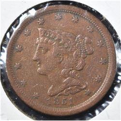 1851 XF HALF CENT