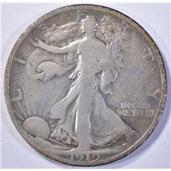 1919 WALKING LIBERTY HALF DOLLAR  FINE