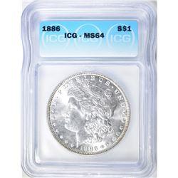 1886 MORGAN DOLLAR ICG MS-64