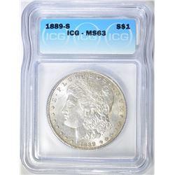 1889-S MORGAN DOLLAR ICG MS-63