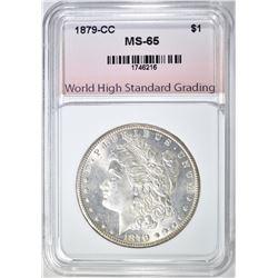 1879-CC MORGAN DOLLAR, WHSG GEM BU VERY NICE!