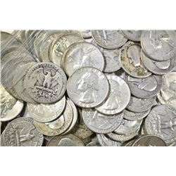 $15 FACE VALUE MIXED DATE 90% SILVER QUARTERS
