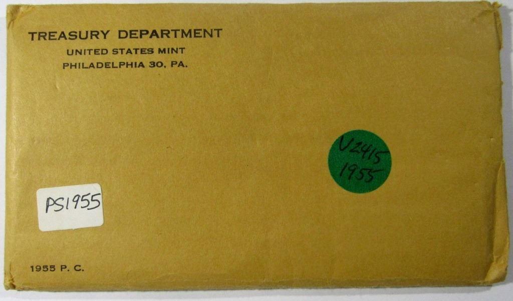 PROOF SET 1955 U.S Flat Pack.