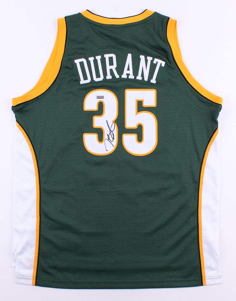 brand new d8542 b7baa Kevin Durant Signed Sonics Authentic Adidas Jersey (Panini ...