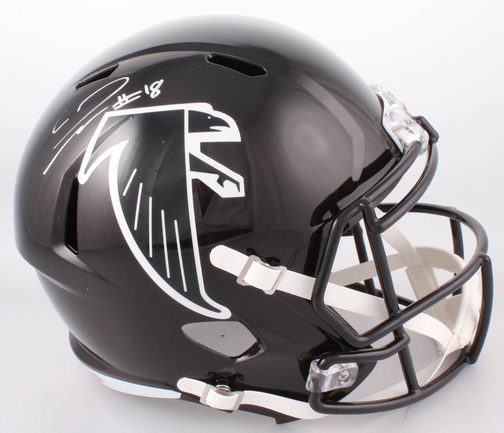sports shoes 85676 2ecf0 Calvin Ridley Signed Atlanta Falcons Throwback Full-Size ...