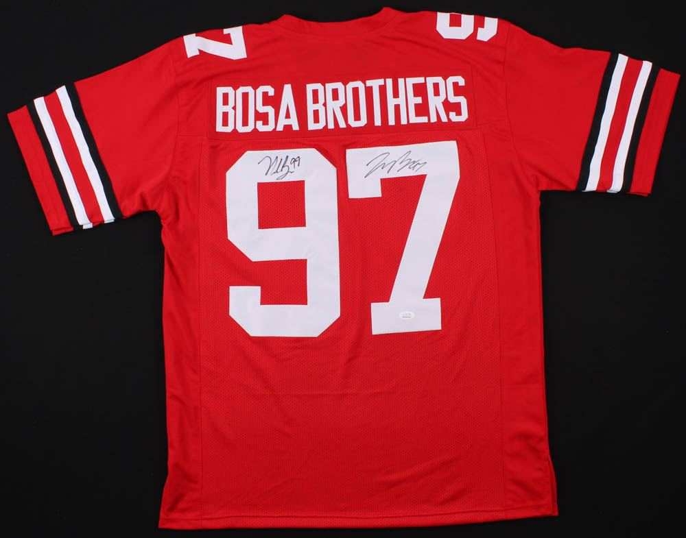 quality design 8649c 5f24f Nick Bosa Joey Bosa Signed Ohio State Buckeyes